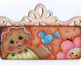 Sing a Sweet Song Gingerbread  Painting E-Pattern