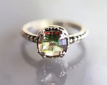 Engagement Ring, Wedding Ring, Sterling Silver Ring, Silver Rings, Boho Rings, Gypsy Rings, Unique Rings, Silver Rings Women, Mango Topaz