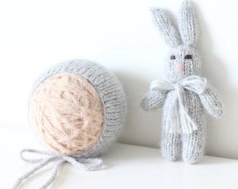 Newborn rabbit - Newborn props - Photo prop rabbit - Newborn easter set - Photo prop boy - Newborn beat hat - photography prop - Baby boy