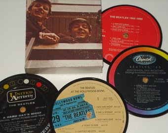 Beatles Coasters vinyl record coasters for drinks