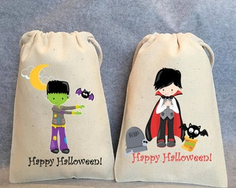 "8- Halloween Party, Halloween Birthday, Halloween favors, Halloween treat bag, Halloween favors, Halloween favor bags, 4""x6"""