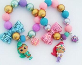 Shimmer and Shine inspired charm bracelet