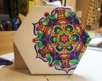 ORIGINAL ARTWORKS, Hexagon Marker Mandala