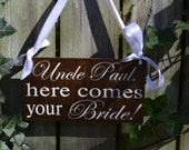 Here comes your Bride sign, here comes the bride, country wedding, rustic wedding decor, boho wedding, flower girl sign, ring bearer sign