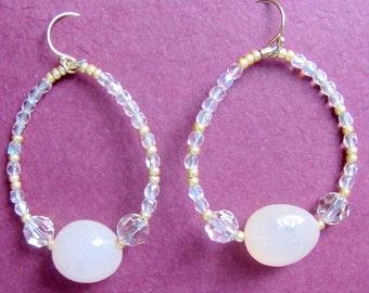 Original, one-of-a-kind, hand made, drop earrings  023