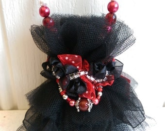 Holiday Ornament Black Goth Dress Jewelry Gift