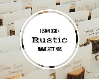 Rustic Wood Name Setting