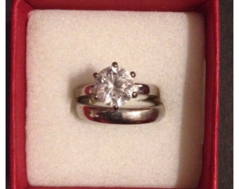 Ring set Stainless steal  with stone