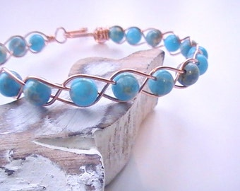 Blue Impression Jasper Braided Bracelet