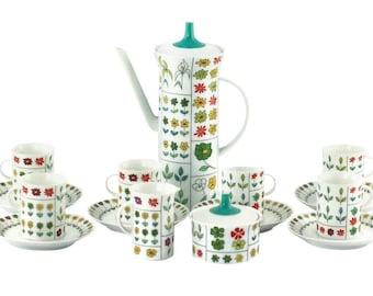 17 pieces tea set by Rosenthal Piemonte by Emilio Pucci design