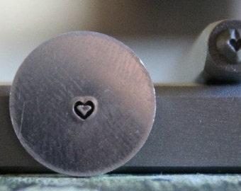 1.5mm Heart Metal Design Stamp - Metal Stamp - Metal Stamping and Jewelry Tool- SGUB-22