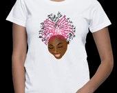 "PRE-ORDER  ""My Afro Speaks""  Women's T-shirt (w/ pink hair)"