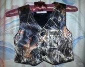 Mossy Oak® New Break Up Satin Vest for Boys (Men's sizes in separate listing)