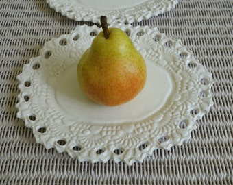 Lacy White Pottery Dish