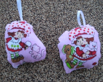 Strawberry Shortcake Pillow Ornaments  - Set of 2