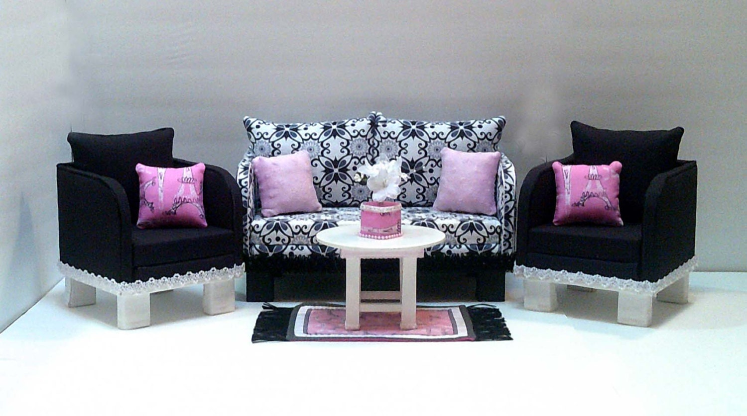 Pink Living Room Set American Girl Couch Etsy