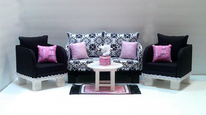 American girl doll paris inspired living room set