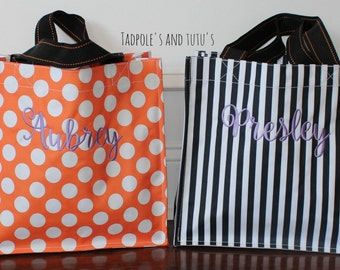 Halloween Tote, Applique Halloween Bag, Personalized Trick or Treat Bag, Monogram Trick or Treat Tote, Trick or Treat Bag