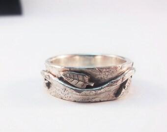 Aged silver leaf band