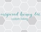 Custom Order: Burlap Banner for Laura
