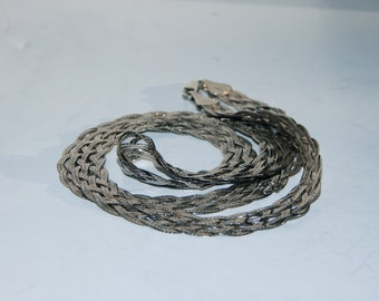 Sterling Silver Braided chain, 22""