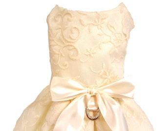 Dog Wedding Dress, Ivory Lace