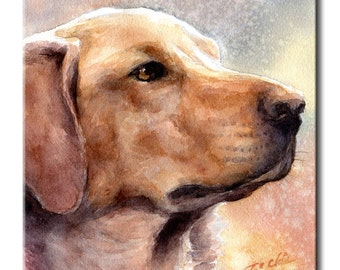 Goldador Art Tile Print on Ceramic with Hook or with Feet Indoor Use -Gift for Dog Lovers