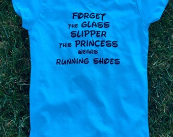 Kids Forget the Glass Slipper This Princess Wears Running Shoes T Shirt