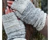 Long Grey Fingerless mittens , Fingerless mittens ,  gloves, hand knit fingerless mittens, fingerless gloves,knit gloves