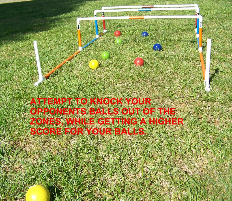 Bocce ball shuffleboard cornhole lawn bowling lawn game yard
