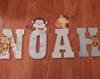 Monkey Business Name Wall Hanging