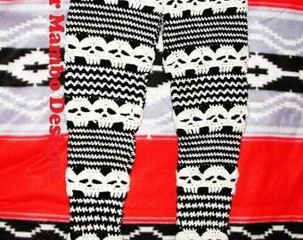 PDF Crochet Pattern  Creepy Skull Leggings Sizes XS  to L
