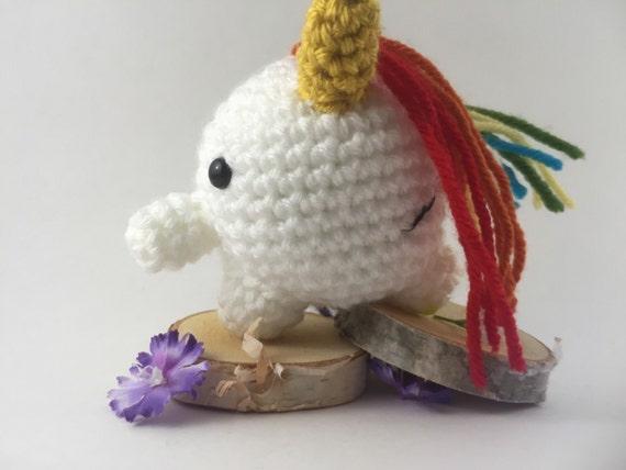 Mini amigurumi unicorn amigurumi unicorn by TheKnitKnackShop