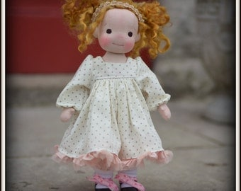 """PDF Pattern to make a baby doll dress for 9"""" or 12"""" doll"""