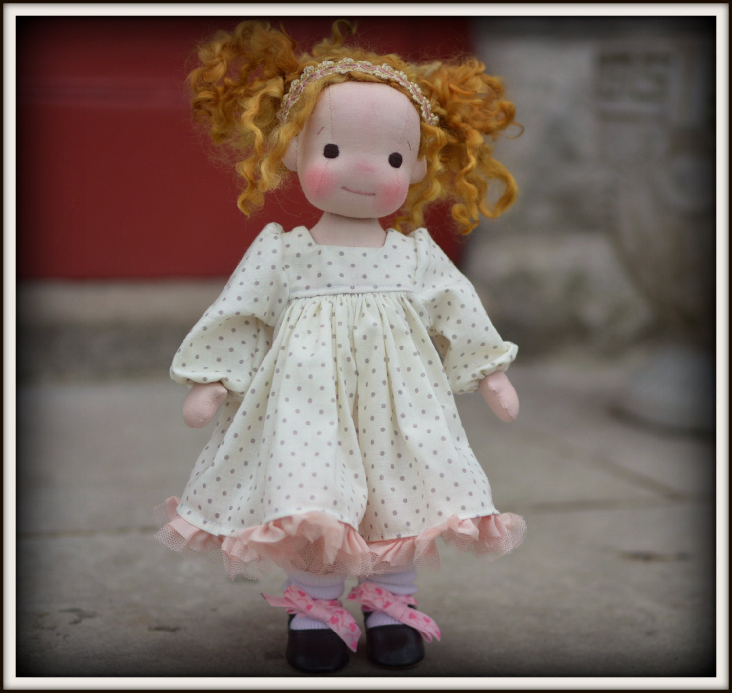 PDF Pattern to make a baby doll dress for 9 or 12 doll
