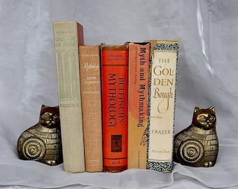 Mythology Book Bundle - Vintage Book Set - Decorative Book Decor - Greek Mythology -Book Collection - Literary Gift - Instant Library Decor