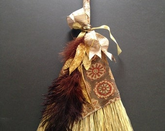 Autumn Tapestry Wedding Broom