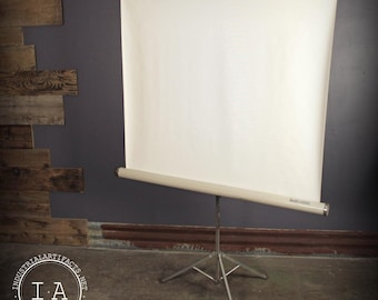 Vintage Tower Projector Screen Tripod Stand