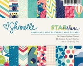 Shimelle - Starshine Collection - 6x6 Paper Pad - 36 Sheets - 374047