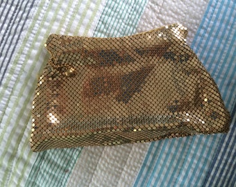 Whiting and Davis Gold Mesh wristlet 1940s