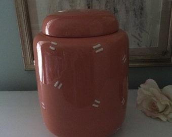 Italian ceramic canister