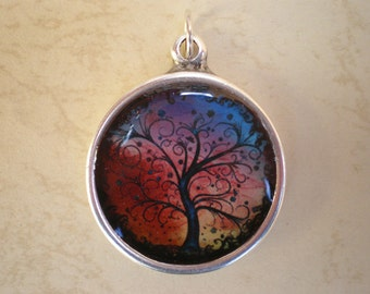 Tree of life pendant, tree of life, tree pendant, resin pendant, tree of life jewelry, resin jewelry