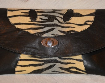 Hand Crafted Leather Clutch Purse