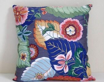 Hand Sewn Tropical Palm Throw Pillow