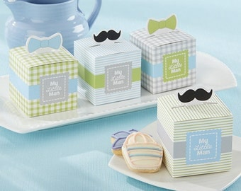 24 My Little Man Favor Boxes Baby Shower Favors for Boy