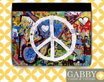 iPad Case, iPad Air Case, iPad Mini Case, iPad Case, Amazon Fire 7 Case, Tablet Case, iPad 3 - Peace Sign Graffiti 3