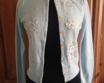 Vintage Turbo Baby Blue Cardigan
