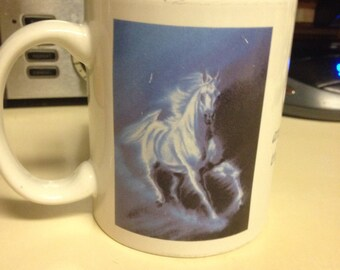 God Forbid that I Should go to Heaven ... No Horses Leanin Tree Mug