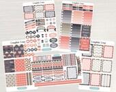 Graphic Gray Weekly Planner Kit - Weekly Stickers, Planner Stickers, Weekly View Planner, for use with ERIN CONDREN LifePlanners