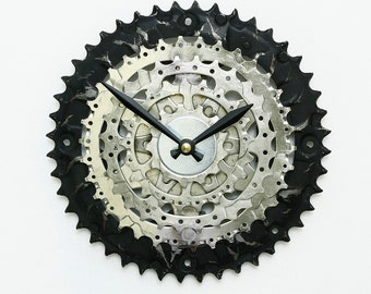 Steampunk Wall Clock, Bike Clock, Bicycle Gear Clock, Bicycle Wall Clock, Bike Parts Clock, Gift for Cyclists, Bike Wall Clock, Unique Clock